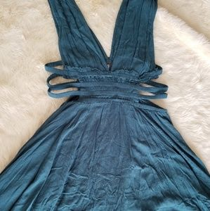 Nwot Free People L dress gauzy open Anthropologie